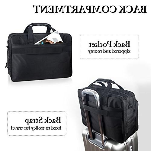 17 Laptop Travel Briefcase with Expandable Hybrid Bag, Water Business Messenger Briefcases for and Women 15.6 Laptop, Tablet