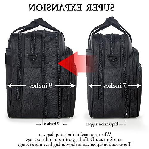 17 Travel Expandable Shoulder Bag, Resisatant Messenger Briefcases and Women 15.6 Laptop, Tablet