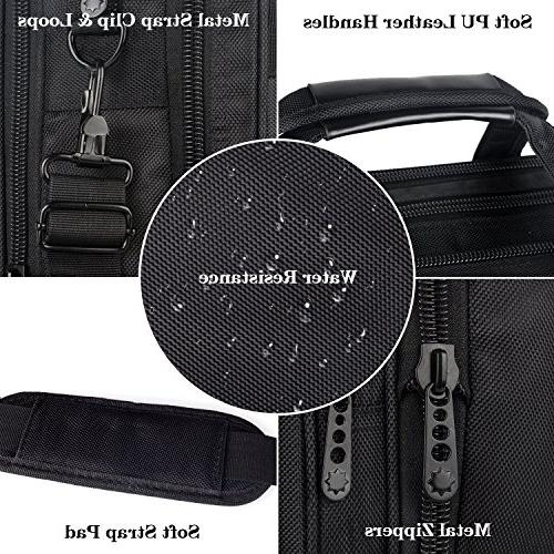 Travel Briefcase Organizer, Expandable Large Shoulder Bag, Water Messenger for and Women 15.6 Laptop, Tablet