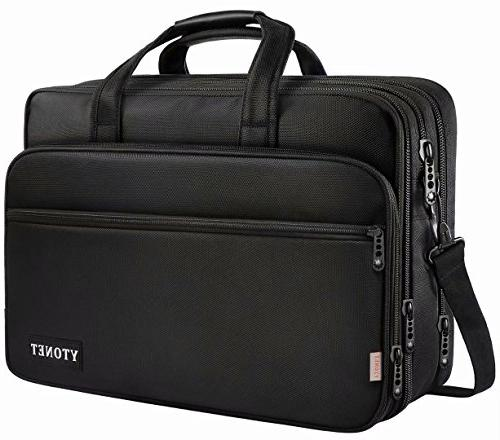 17 Laptop Bag, Travel Briefcase Expandable Large Shoulder and Women Fits 15.6 Tablet