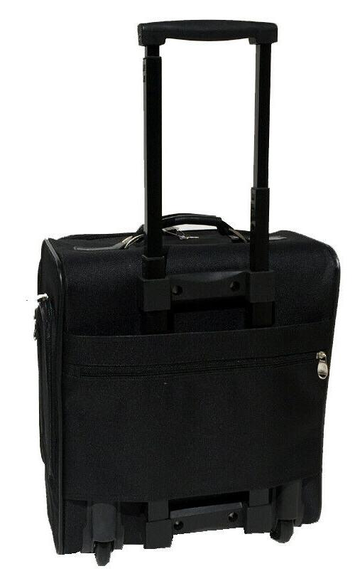 Business Case and Black rolling briefcase bag