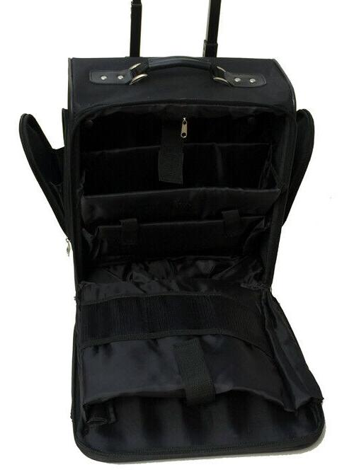 """Business luggage Black 14"""" rolling briefcase seat bag"""