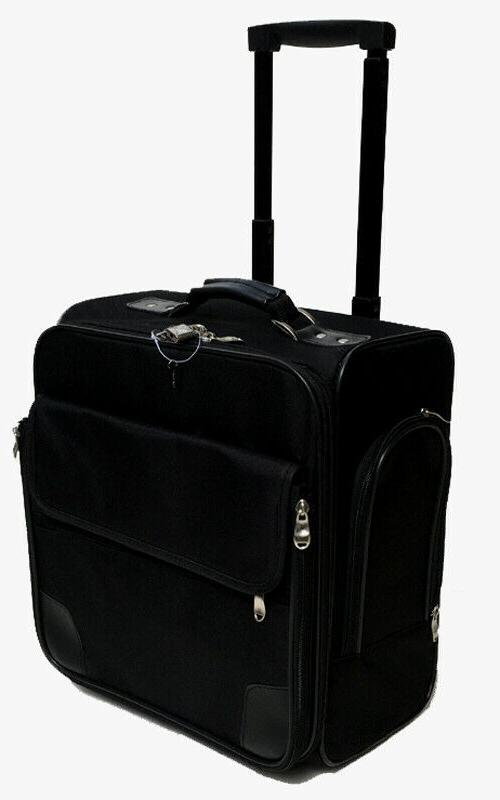 business case and luggage black 14 rolling