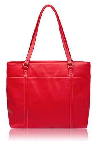 classic laptop tote bag red