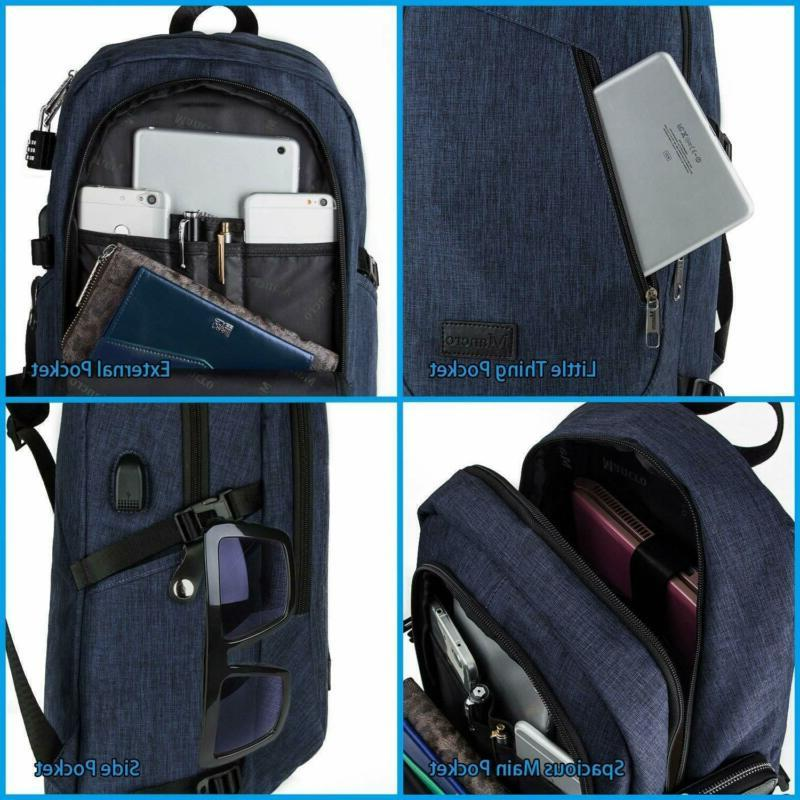 College Laptop Backpack, Anti-Theft Resistant