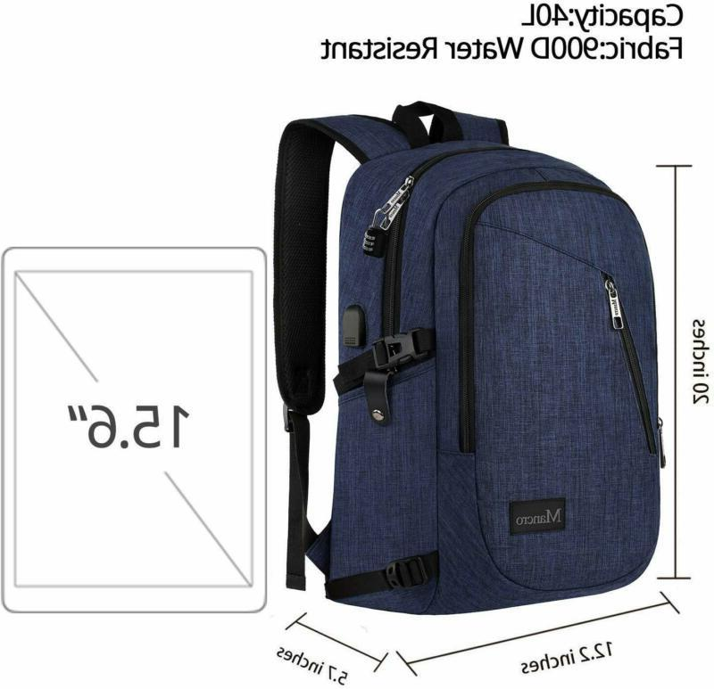College Slim Laptop Backpack, Water Resistant