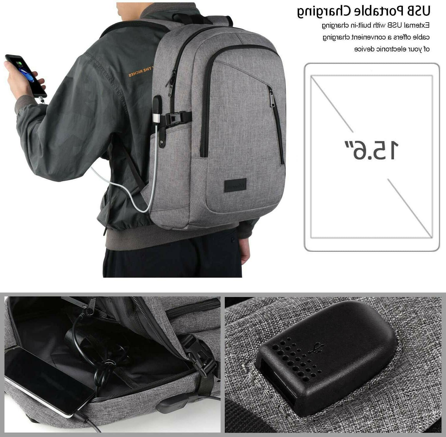 """Mancro Computer with USB Charging Fits 15.6"""" and Notebook"""