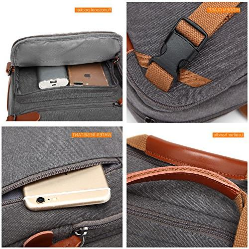 CoolBELL Convertible Case Handbag Briefcase Multi-Functional Rucksack 17.3 Inch for Men/Women