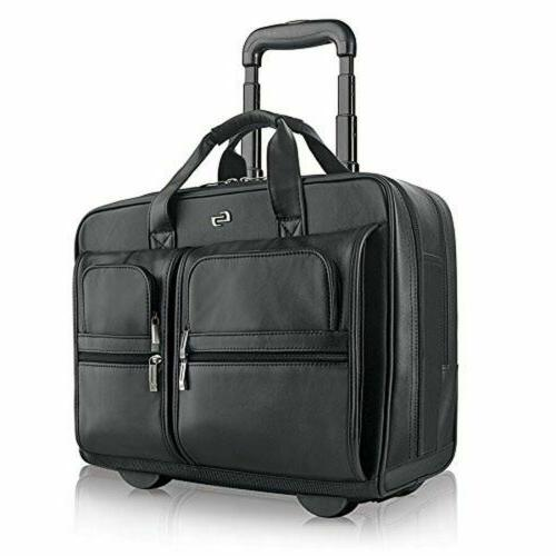 Solo New York Franklin Premium Leather 15.6 Inch Rolling Lap