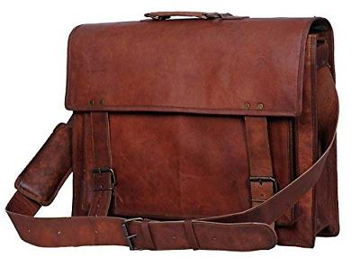 Komal's Passion Leather 18 Inch Retro Leather Briefcase Vint