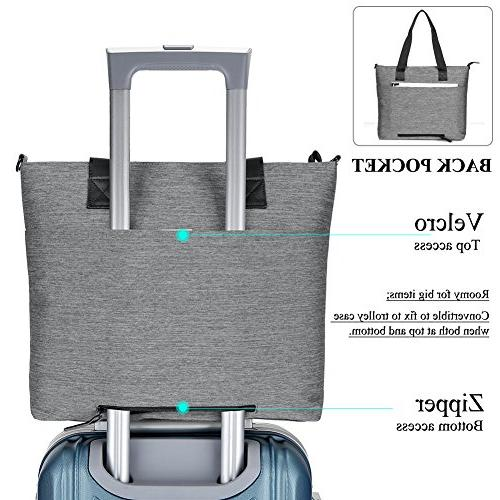 Ladies Tote Bag,DTBG Stylish Business Tote Briefcase with to 15.6 Inch Computer,Grey