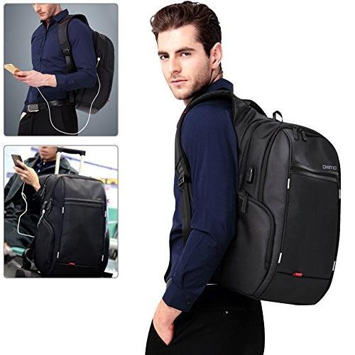 with USB Port,DTBG Nylon Water-Resistant College Back Pack For Inches Notebook