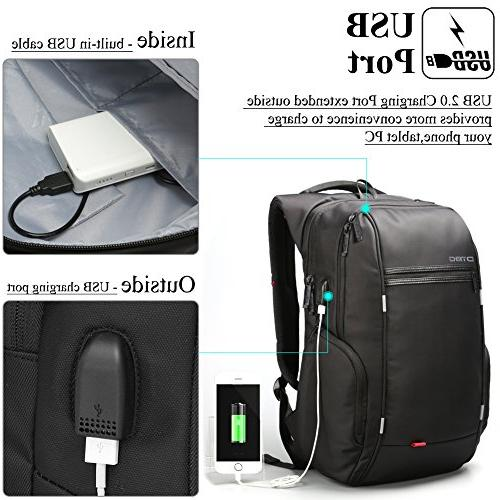 17.3 Laptop with Water-Resistant College Shoulder Travel Bag Knapsack For 17 - Inches Laptop Notebook