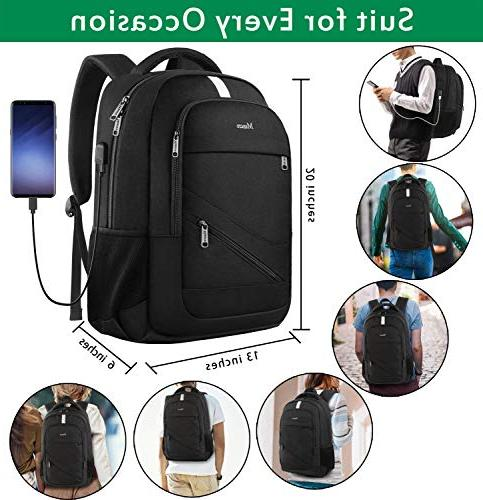 College Backpack Anti Computer Charging Port, and Women, Slim Daypack