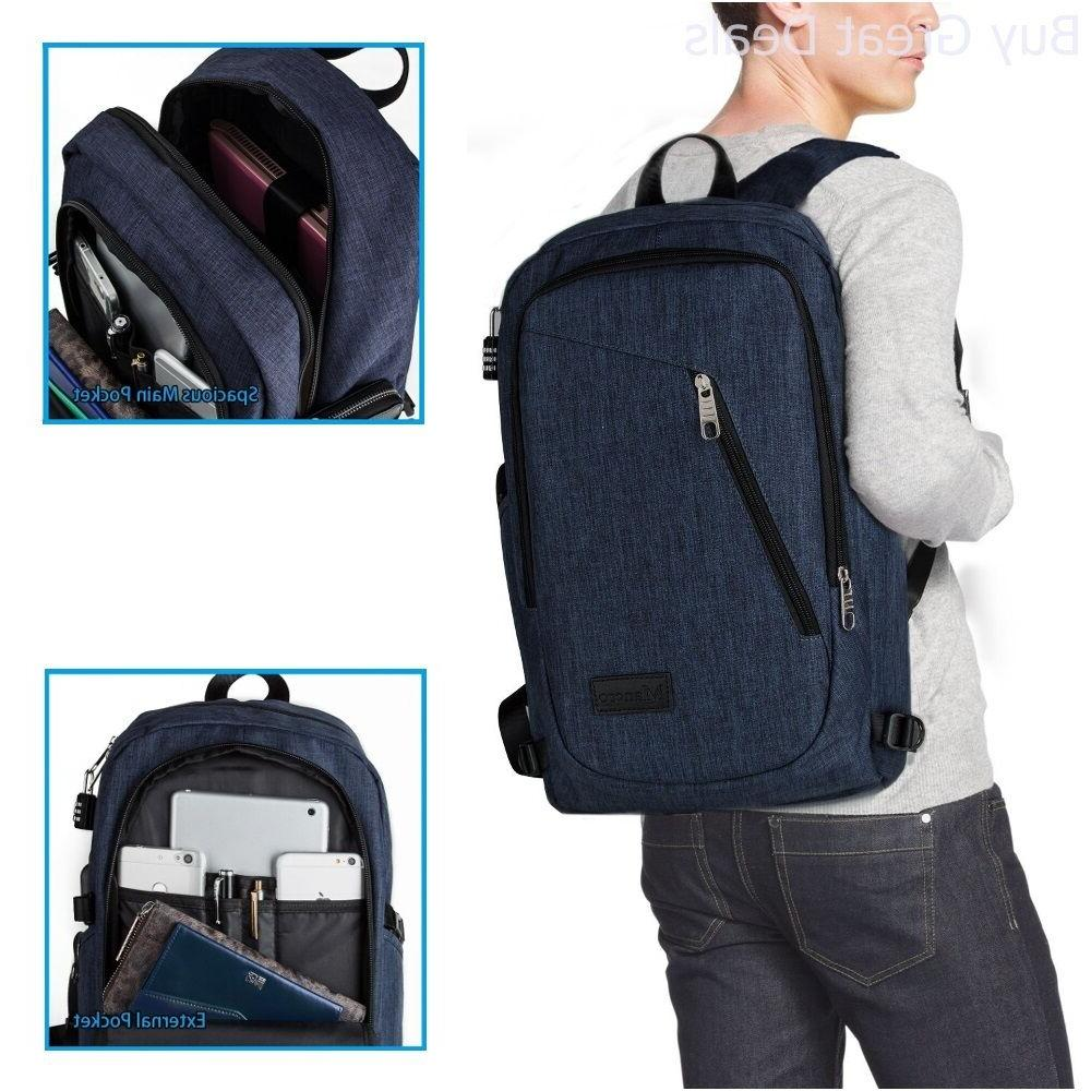 Laptop Backpack 17 Computer Business Travel School New