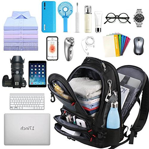 Computer Fits 17 inch for Men Women Hiking/School / Black Smart Bookbag with 9 of Water-Resistant