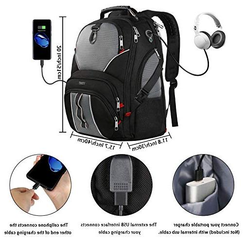 Travel Laptop Backpack, Computer Fits 17 Laptop Men Women for / College, 9 Made Water-Resistant