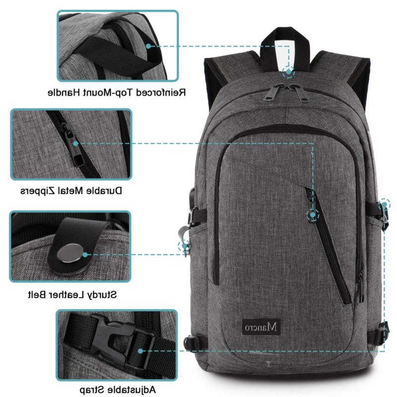 Laptop Backpack, Anti Theft Bag for Women and Men, Slim