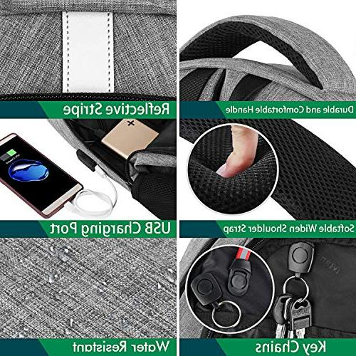 Business Backpack,Mancro Slim Backpack with USB Port for Theft Travel with RFID Pocket, Water Bag Laptops