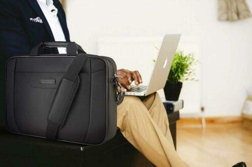 KROSER Laptop Briefcase Shoulder Messenger Bussiness 16.2x11.5x3.5""