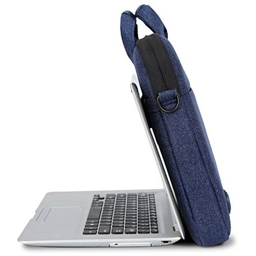 Laptop Slim Resistant Portable Laptop Shoulder Briefcase with Strap for to 15.6 Inch Laptop / / Women,Blue