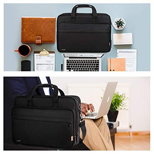 17 Large Business Briefcase for Men Women, Case Shoulder Carrying Case 17 inch Computer for Notebook, Ultrabook