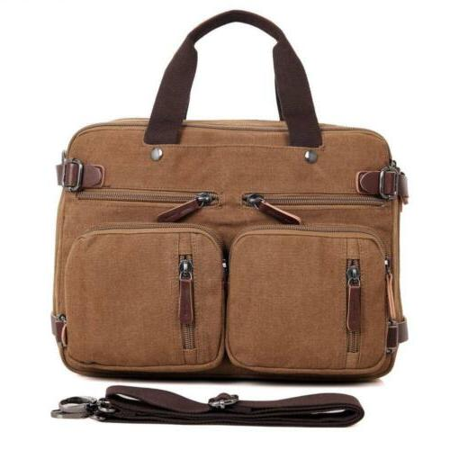 Briefcase for Men Women- Daypack-Waxed Canvas