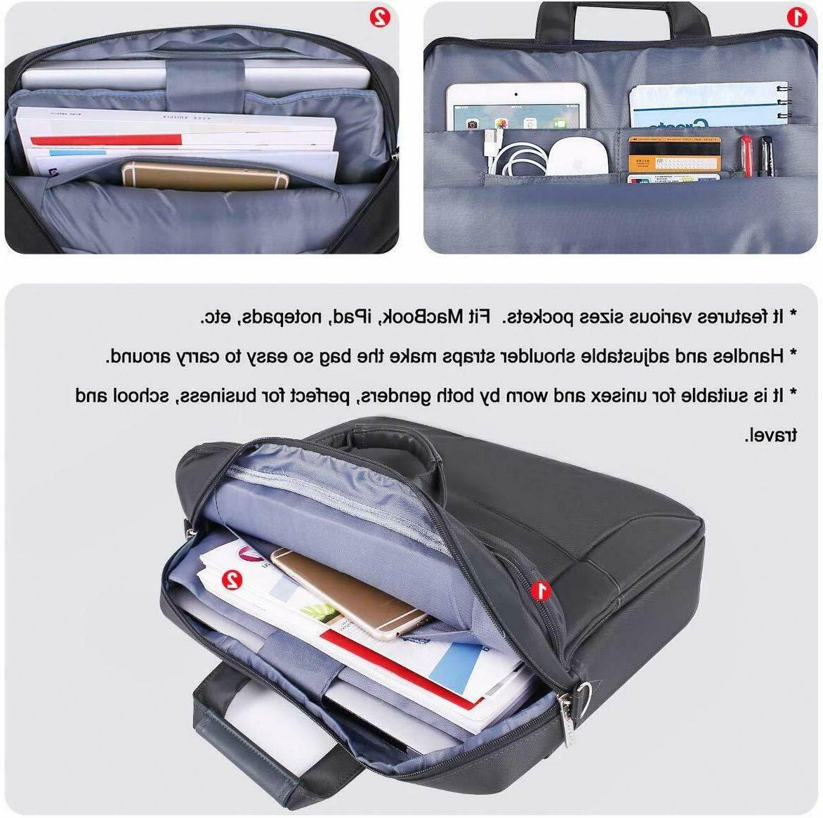"""Mosiso Laptop Bag Case 15.6"""" for Macbook Dell HP Chromebook"""