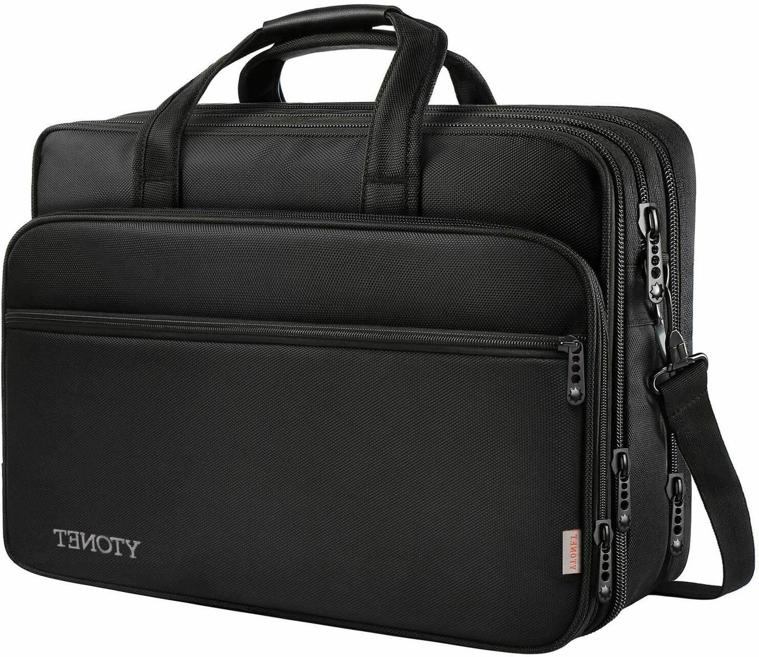 17in Laptop Bag Travel Briefcase with Organizer Expandable W