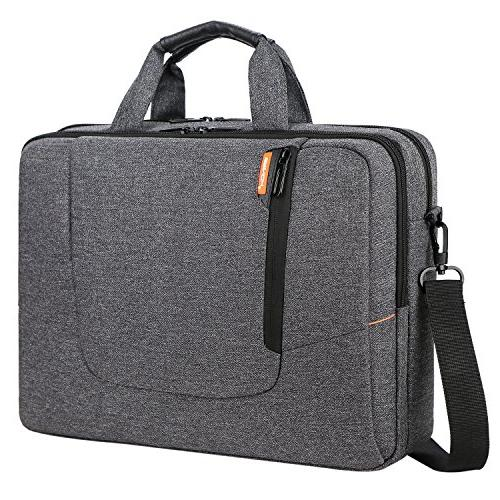 Bag Large Capacity Resistant Mens/Womens Travel Business Laptop Briefcase Bag Messenger Case with Strap 15-15.6 Inch Laptop/Notebook,Dark