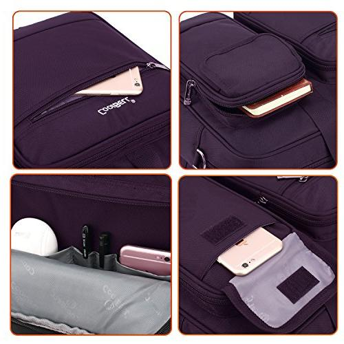CoolBELL 17.3 Laptop Briefcase Messenger Nylon Hand / / /