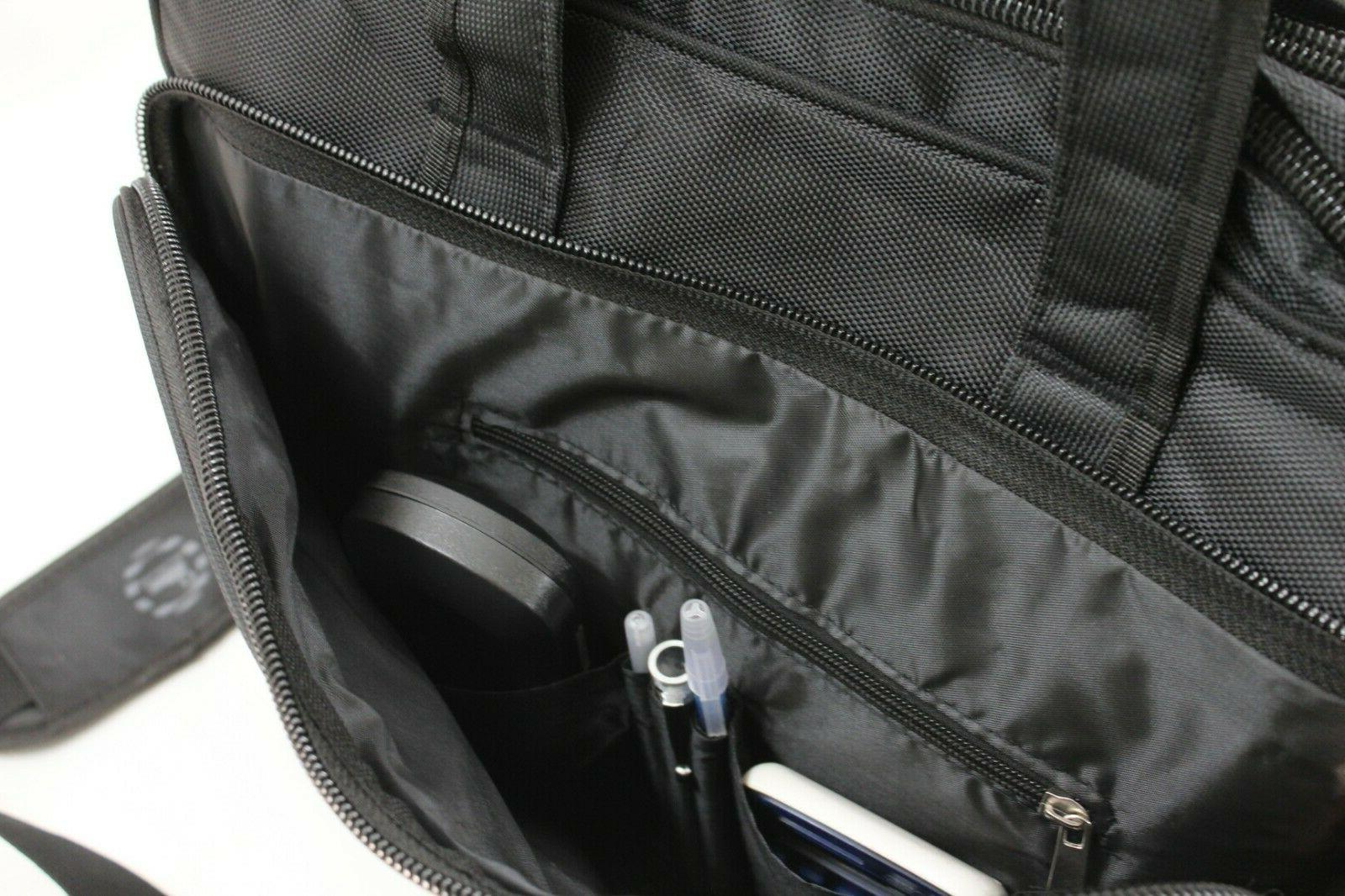 """Laptop Carrying Briefcase Bag Expandable for up to 17.5"""""""