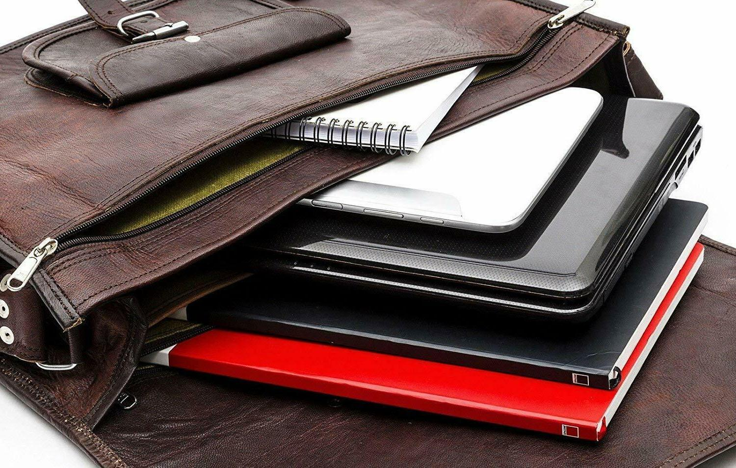 Leather Business Travel Slim Case Laptop Lawyers