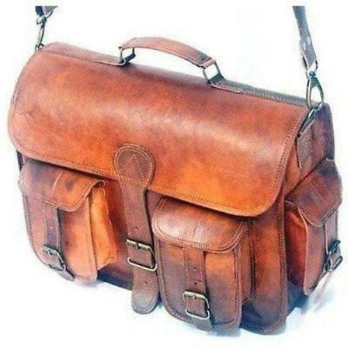 leather messenger bag vintage leather briefcase laptop