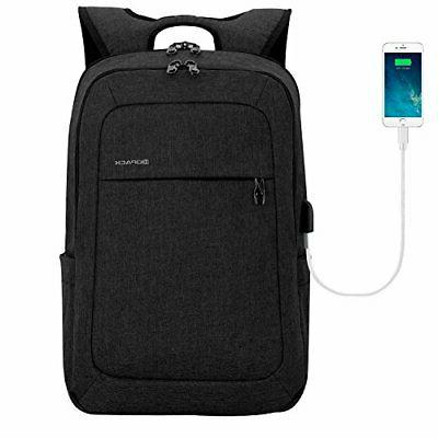 Lightweight Laptop Backpack USB Port 15.6 Inch Business Slim