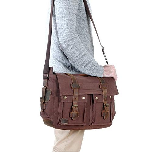Lifewit Bag Leather Military Shoulder