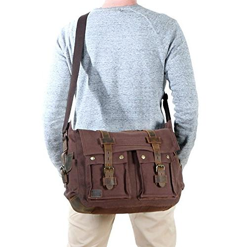 "Lifewit 15.6"" Men's Messenger Bag Military Laptop"