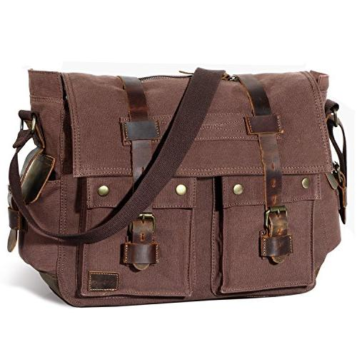 men messenger bag vintage canvas