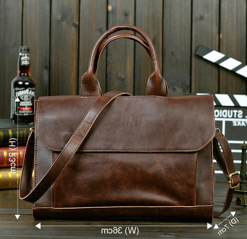 Men Case PU Shoulder Messenger