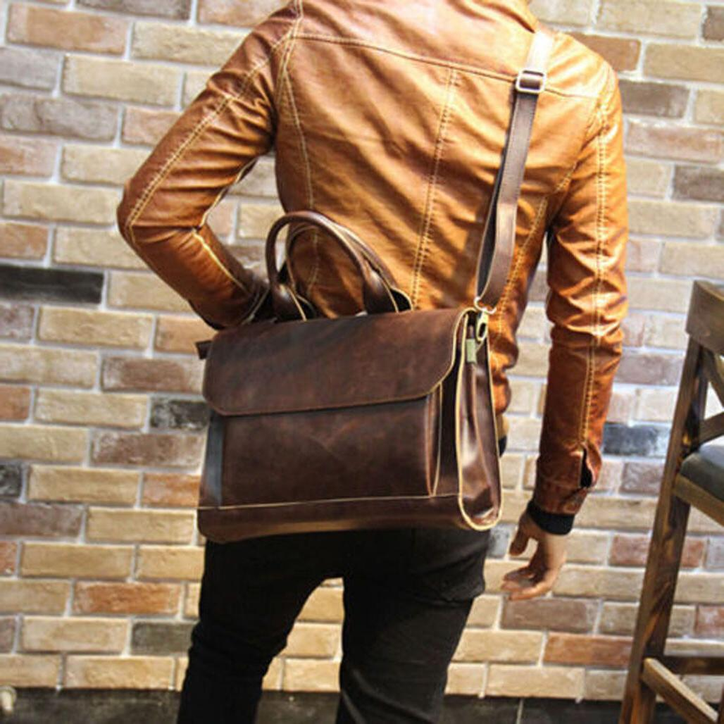 men portfolio business case pu leather briefcase