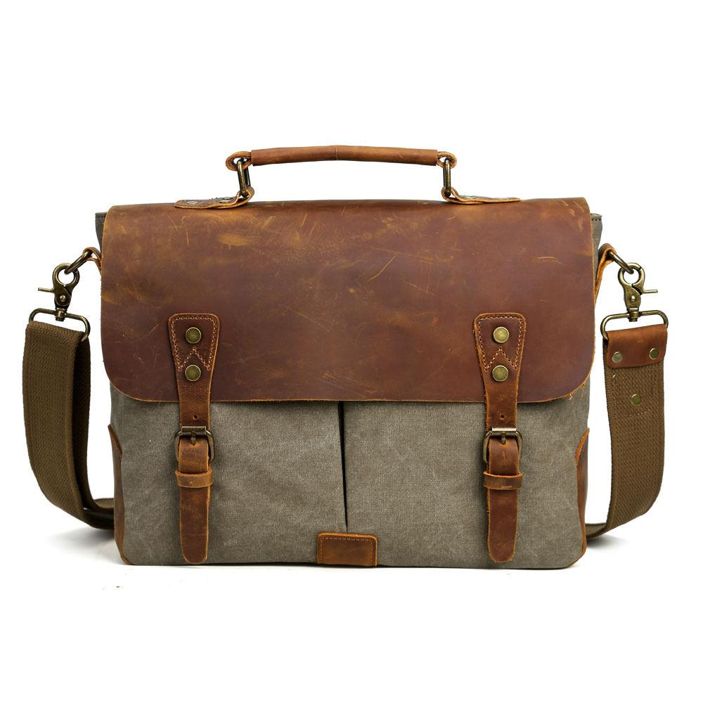 Men's Messenger Shoulder Satchel Laptop Crossbody
