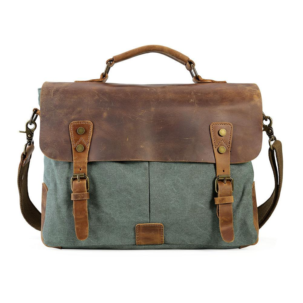 Men's Leather Shoulder Laptop Bags