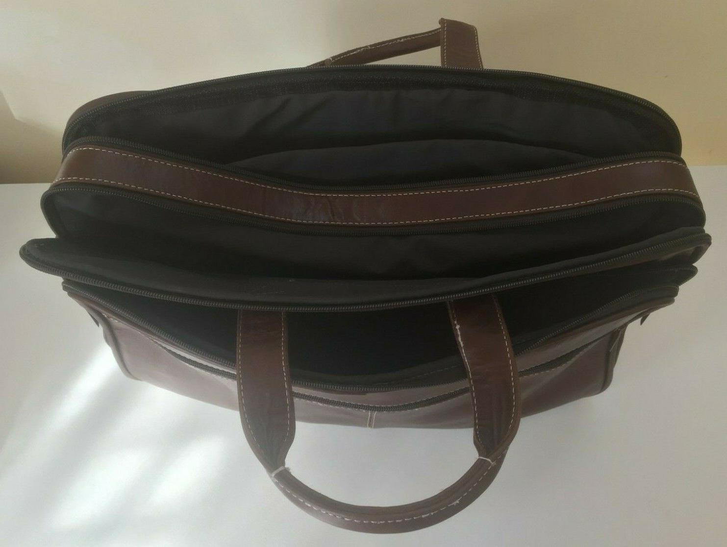 Men's Leather Laptop Luggage Messenger