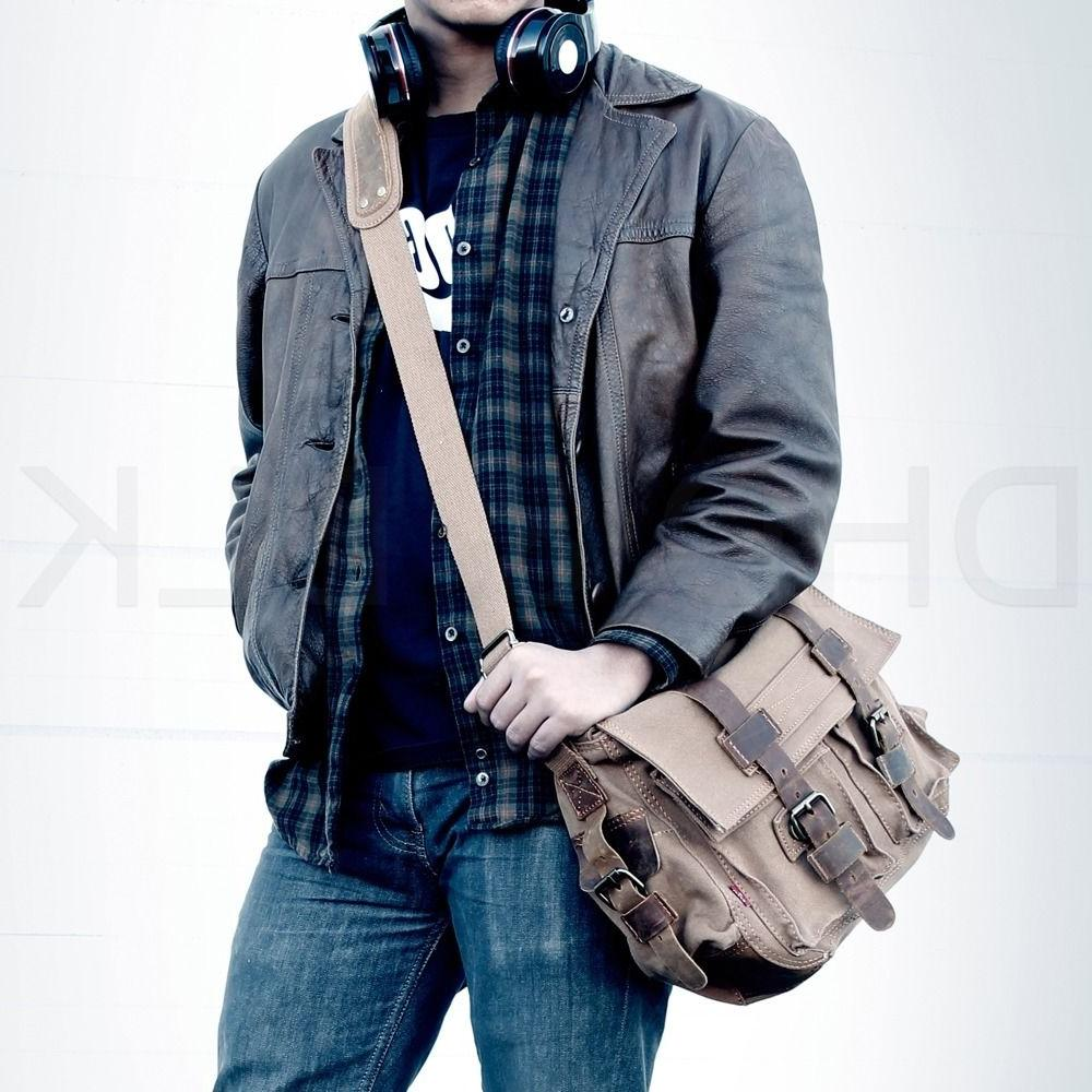 Men's Canvas Satchel Shoulder
