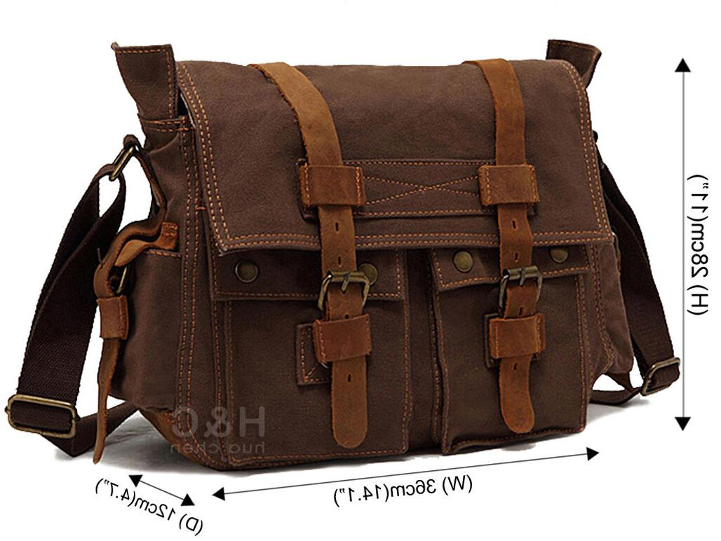 Men's Military Leather Satchel Shoulder