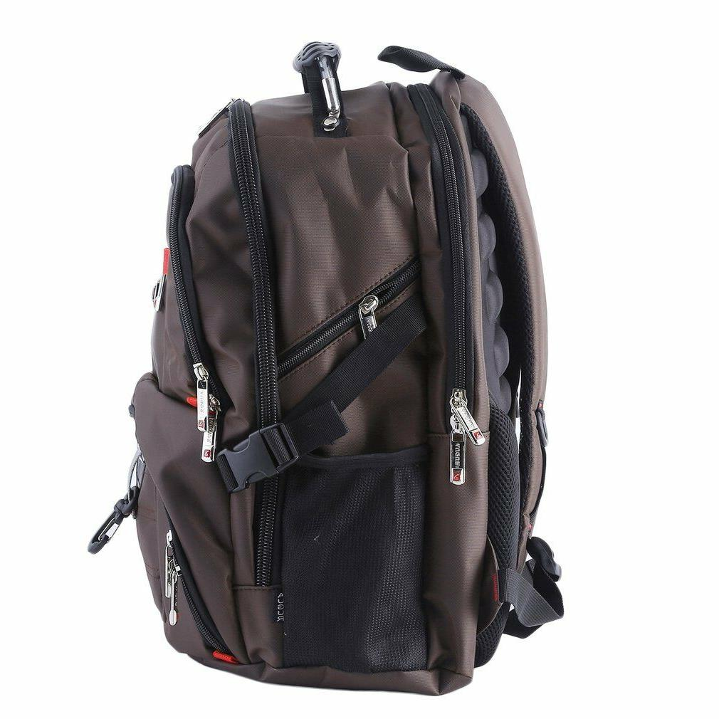Men's Laptop Backpack Travel School Bag@
