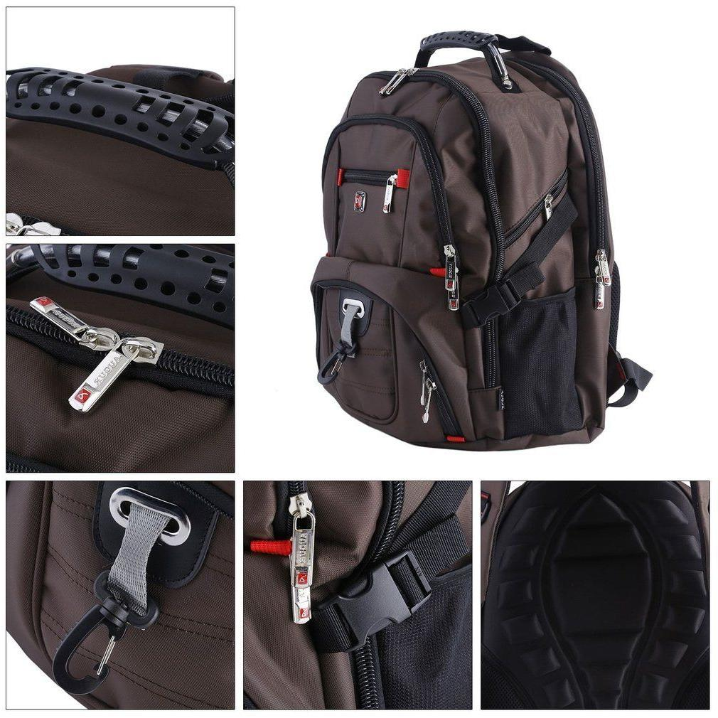 Men's Notebook Laptop Backpack Shoulder Travel School Bag@