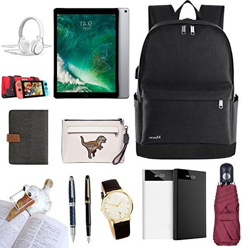 School Backpack, College Middle High Student Backpack Men Mancro Water Resistant Tarvel Bag W/ USB Charging Lightweight