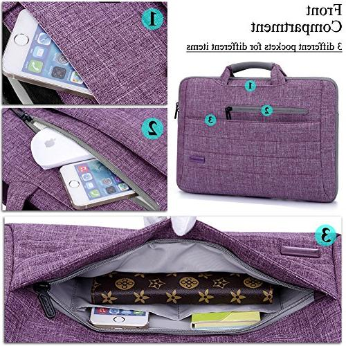 Brinch 17.3 Inch Suit Fabric Portable Laptop Sleeve Case Bag for Laptop, Tablet, - Purple