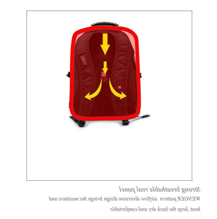 SwissGear backpack Charged bag Schoolbag